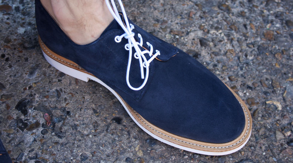 Mark McNary Plain Derby Shoe in Navy