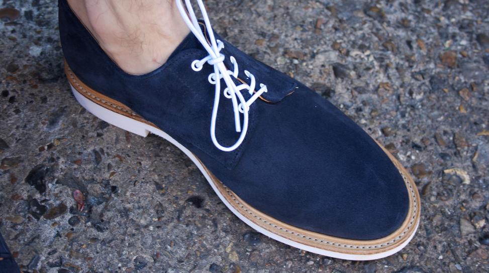 Mark McNary Plain Derby Shoe in Navy
