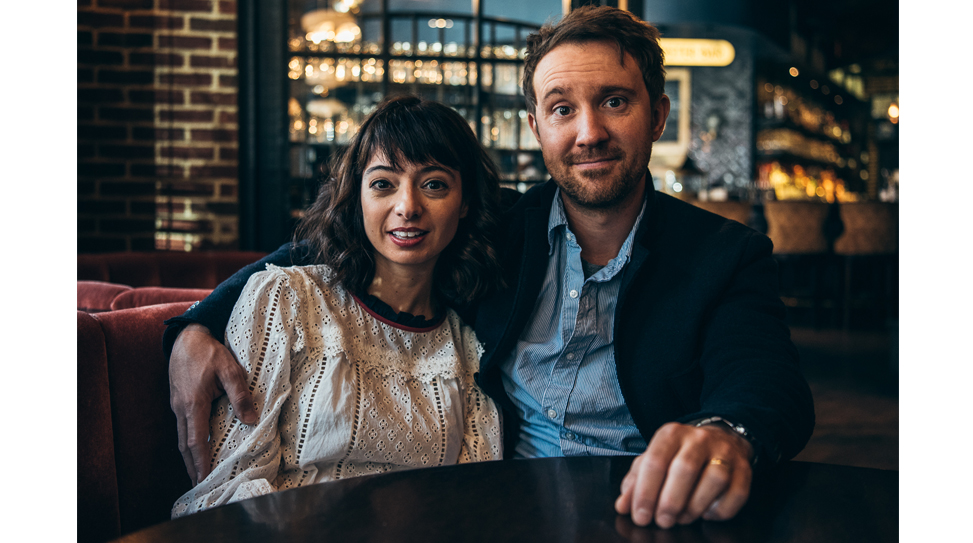 Kate Micucci and Sam Huntington